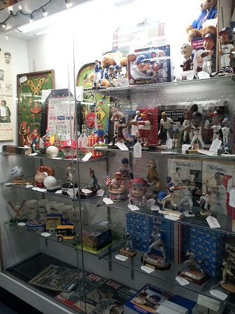 Mendy's Baseball Memorabilia booth at Westminster Antique Mall